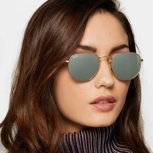 Ray-Ban Hexagonal Flat Lens Mirrored